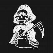 stock photo of grim-reaper  - Grim Reaper Doodle - JPG