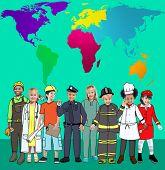foto of environmental conservation  - Global Globalisation World Map Environmental Conservation Concept - JPG