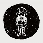 pic of private detective  - Detective Doodle - JPG