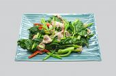 stock photo of roughage  - Stir fry chinese kale - JPG