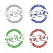 Free WiFi Stamp Vectors