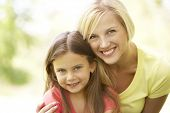 pic of mother daughter  - Portrait Of Mother And Daughter In Park - JPG