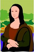 stock photo of mona lisa  - The Mona Lisa in a very simple style - JPG