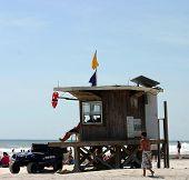 Lifeguard Shack On Tropical Beach