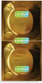 Gold condom packet.