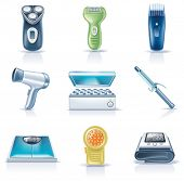 picture of electric trimmer  - Vector household appliances icons - JPG