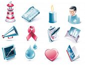 Vector cartoon style icon set. Part 38. Charity