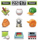 Vector de béisbol / Softbol icon set