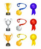 Trophy, vector icon set