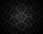 Black Seamless wallpaper pattern, vector