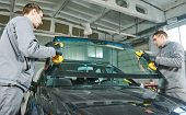 automobile windshield or windscreen replacement poster