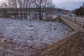 Ice Debris Dam, Stacked Up Above Bridge, Montpelier, Vt