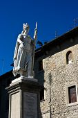 Statue of Freedom before Pablico Palazzo. San Marino.