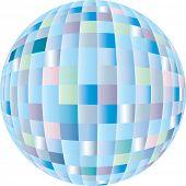 Disco sphere equipment in three-dimensions shape
