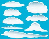 Set of different shape of clouds for design usage