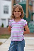 Portrait Of Cute Little Girl  poster