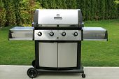 stainless barbecue grill