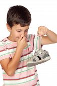 Child With A Stuffy Nose Taking A Sandal