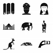 Religious Journey Icons Set. Simple Set Of 9 Religious Journey Vector Icons For Web Isolated On Whit poster