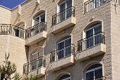 Living house facade in Jerusalem.