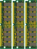 Set of Computer RAM Cards