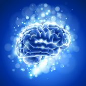 brain & blue bokeh abstract light background. Bitmap copy my vector ID 73068175