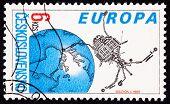 Postage Stamp Czechoslovakian Built Magion 2 Earth Magnetosphere Ionosphere Satellite