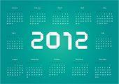 2012 Vector Calendar
