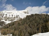 Snowy Rock Summits And Forest