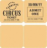 Retro Tear-off Coupon Ticket For Presentation At The Circus Theater Concert Second Party Confusing W poster