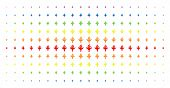 Air Crash Icon Rainbow Colored Halftone Pattern. Vector Air Crash Symbols Are Organized Into Halfton poster