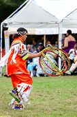 YORKTOWN HEIGHTS, NY - SEPTEMBER 25: Unidentified Native American Indian dances at the FDR  Pow Wow
