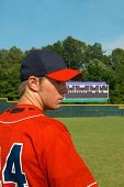 Ball Field And Baseball Player