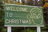 Welcome To Christmas, Michigan - Road Sign