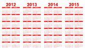 Calendário de inimigo do modelo 2012-2015