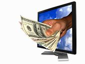 picture of computer-screen  - You can make money from the internet - JPG