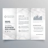 Elegant White Trifold Brochure Design For Your Business poster