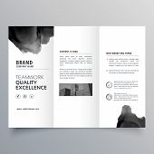 Black Paint Trifold Brochure Vector Design Template poster
