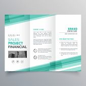 Abstract Green Trifold Template Brochure Vector Design poster