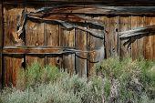 Old Barn Door Detail In Ghost Town Of Bodie, Nevada