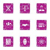 Progressive Science Icons Set. Grunge Set Of 9 Progressive Science Vector Icons For Web Isolated On  poster