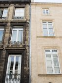 Comparison Of Before And After Clean Building Facade Difference Between A Wash Cleaned House Facade  poster