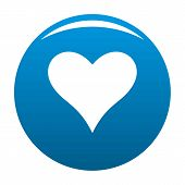 Affectionate Heart Icon. Simple Illustration Of Affectionate Heart Vector Icon For Any Design Blue poster