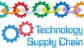 Chain of gears form a symbol of SCM enterprise Supply Chain Management technology