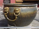 China Forbidden City Large Bronze water Vat (Tub)