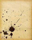 Old grunge paper background with  blots