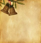 vintage paper textures with two bells