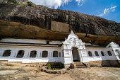 Exterior Of Dambulla Cave Temple (golden Temple) Is A Large Cave-temple Complex In Sri Lanka And Wor poster