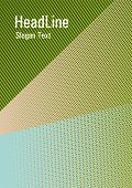 Linear Geometry Poster Background Vector Template. Marketing Catalog Creative Mockup. Rectangle Leaf poster
