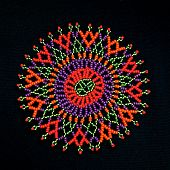 African Beaded Design Pattern